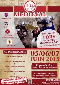 FORS EN FETE - 2015 - MEDIEVAL