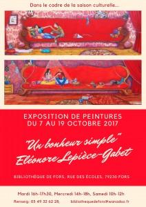Expo peinture du 7 au 19 octobre 2017