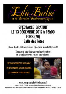 Lili Berlue affiche 13 décembre 2017