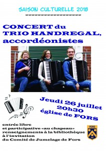 Concert du Trio Handregal @ Eglise