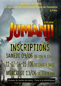 affiche inscriptions