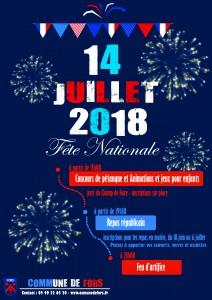 Affiche 14 juillet 2018