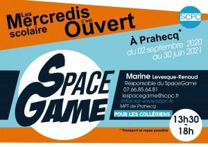 affiche SpaceGame ouvert les mercredis