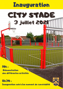 Affiche inauguration city stade 3 juillet 2021